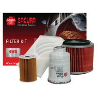 SAKURA FILTER KIT OIL AIR FUEL CABIN NISSAN PATROL GU Y61 ZD30 DIRECT INJECTION