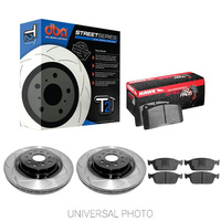 DBA T2 SLOTTED FRONT ROTORS W/HAWK PERFORMANCE HPS 5.0 PADS - JEEP SRT WK2 11-20