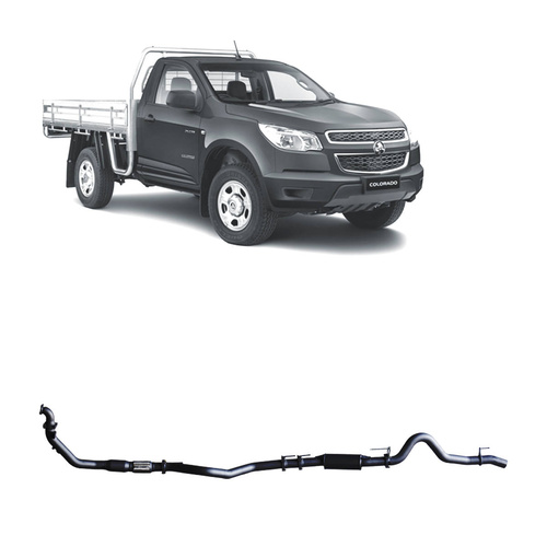 "Redback 4X4 Exhaust System - 3"" Turbo Back System with Cat & Hotdog section. With Cat."